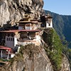 Bhutan buildings mountains valleys HD wallpaper
