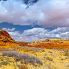 Arizona utah area canyon clouds HD wallpaper