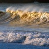 Golden wave waves HD wallpaper