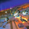 Aircraft fire multicolor paintings purple HD wallpaper