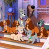 Disney company lady and the tramp dogs movies HD wallpaper