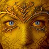 Abstract blue eyes faces fantasy art portraits HD wallpaper