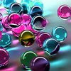 Abstract spheres digital art HD wallpaper