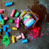 Chalk childhood colors multicolor paint HD wallpaper