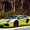 Lamborghini aventador green HD wallpaper