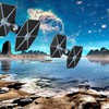Étoiles planètes vaisseaux spatiaux de science-fiction TIE Fighter  HD wallpaper