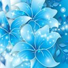 Blue butterflies lilies HD wallpaper