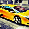 Lamborghini murcielago yellow cars mat HD wallpaper
