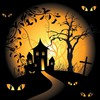 Halloween spooky digital art bats black background vector HD wallpaper