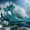 Turbulent wave HD wallpaper