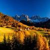 Mountain village in autumn HD wallpaper