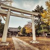 Japanese shrine in the fall HD wallpaper