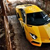 Yellow cars lamborghini aventador HD wallpaper