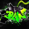 Digital art graffiti rain HD wallpaper