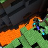 Minecraft cliffs lava video games zombies HD wallpaper