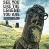 Easter island viral advertisement artwork glasses HD wallpaper