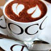 Chocolate coffee cups hearts love HD wallpaper