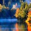 Lakes landscapes reflections trees HD wallpaper