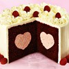 Cute heart rasberry cake HD wallpaper