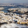 Praha cityscapes tiltshift  HD wallpaper