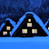 Winter cottages HD wallpaper
