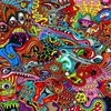 visages Psychedelic  HD wallpaper