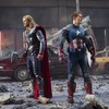 Destruction chris evans hemsworth the avengers (movie) HD wallpaper