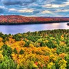 Rock lake algonquin provincial park HD wallpaper