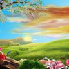 Easter artwork birds butterflies flowers HD wallpaper