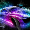 Colorful fantasy car HD wallpaper