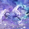 licorne pourpre  HD wallpaper