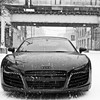 Winter snow cars audi r8 front view HD wallpaper