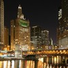 Chicago River evening  HD wallpaper
