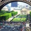 Paris cityscapes buildings tilt-shift HD wallpaper