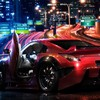 Cars nissan 350z city night street HD wallpaper