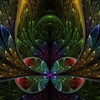Abstract multicolor fractals artwork symmetry HD wallpaper