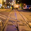 Urban railroad tracks street HD wallpaper