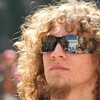 Blondes curly hair faces goatee sunglasses HD wallpaper