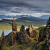 Scotland clouds grass gray green HD wallpaper