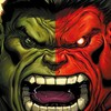 Green hulk (comic character) comics marvel red HD wallpaper