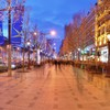 Champs elysées paris cities light lights HD wallpaper