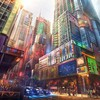 Japan cityscapes futuristic digital art artwork HD wallpaper