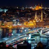 Istanbul at night HD wallpaper