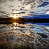 Hdr photography landscapes reflections skyscapes sunset HD wallpaper
