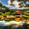 Japan landscapes trees forests houses lakes skies kinkakuji HD wallpaper