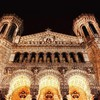 France lyon notre dame architecture night HD wallpaper
