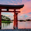 Epcot disneyland torii lakes culture japanese architecture HD wallpaper