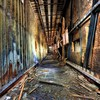Hdr photography abandoned corridor decay postapocalyptic HD wallpaper