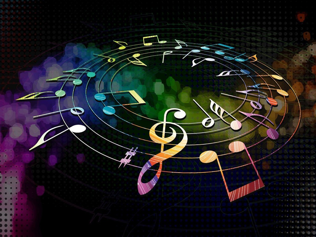 Cool Music Note Wallpapers: Couleurs Composer Notes De Musique De Musique Multicolore