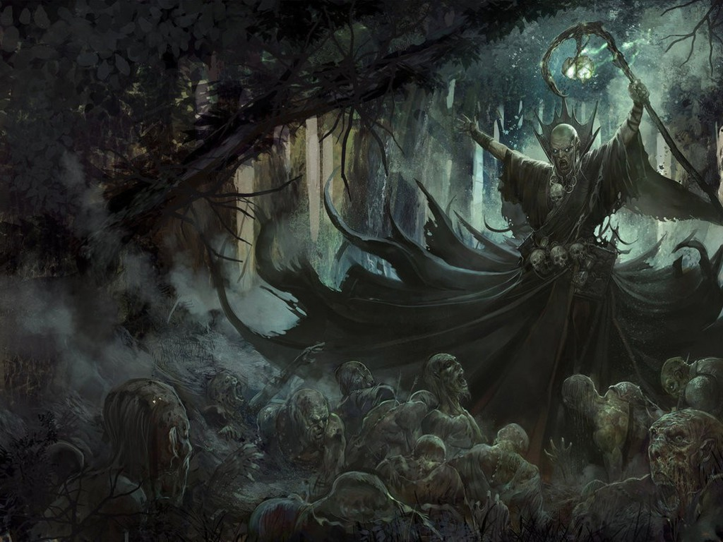 Fantasy Art Necromancers Wallpapers Hd Desktop And: Necromancer Artwork Fantasy Art Forests Undead Wallpaper